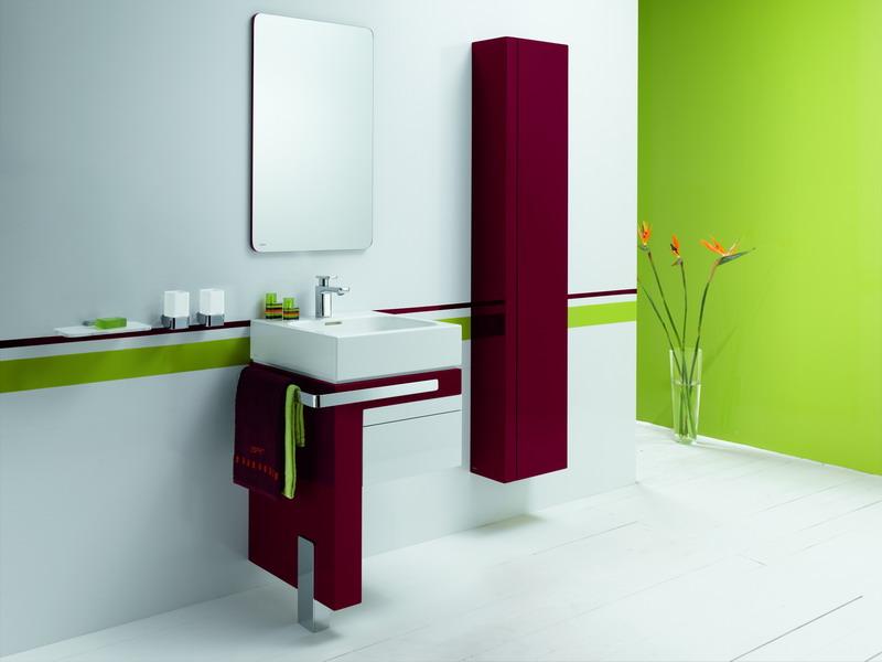 интерьер мебели в ванной в бордовом цвете делать, если съемный