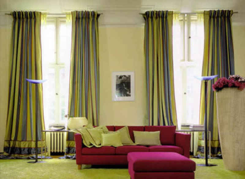 Шторы для узкой гостиной фото