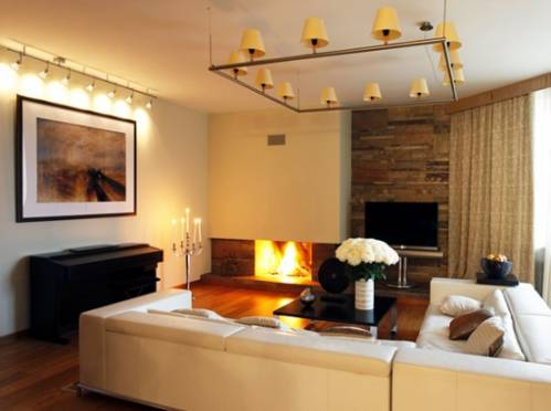 квартирный вопрос гостиная с камином