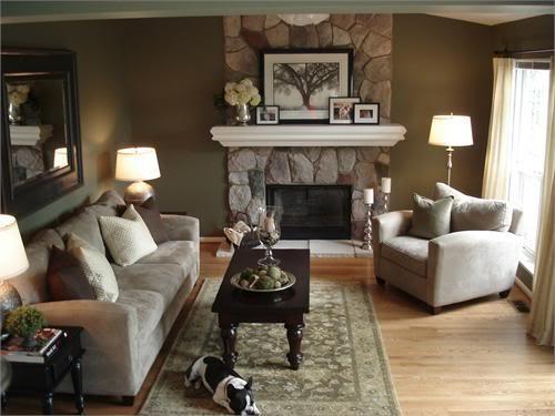 фото гостиных комнат с камином